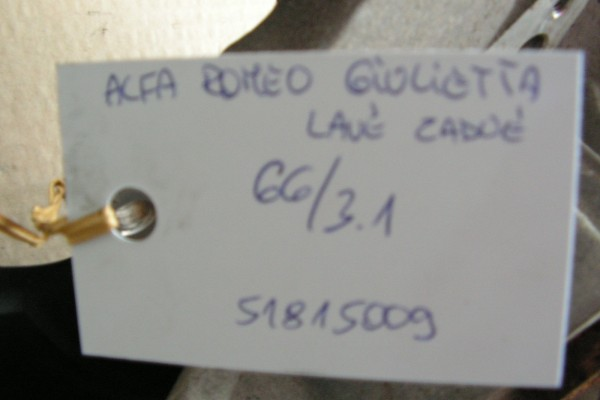 Alfa Romeo Giulietta Lavy Zadny Naboj