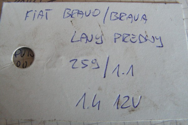 Fiat Bravo/Brava 1.4 12V Lavá Poloos