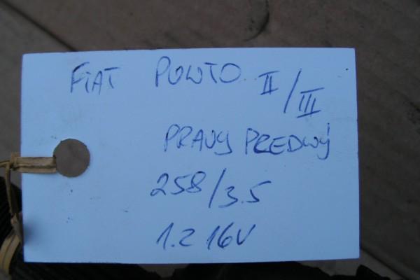 Prava Predna Poloos Fiat Punto II/III 1.2 16V