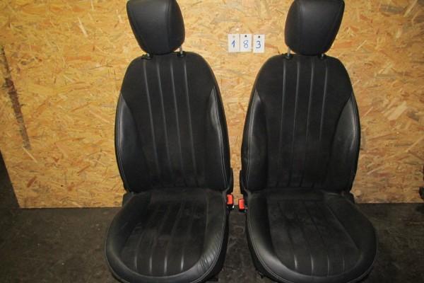 Lancia Delta Polokožove Sedačky Čierne 182