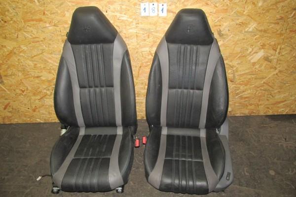 Alfa Romeo Brera Kožove Sedačky čierne 181