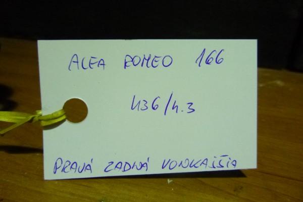 Alfa romeo 166 Prava Zadna Vonkajsia Klucka