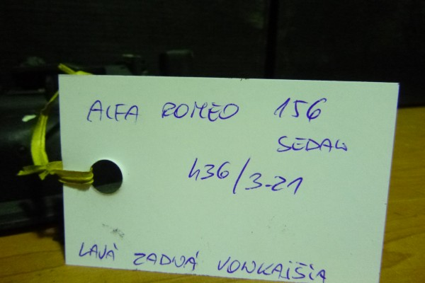 Alfa Romeo 156 Lava Zadna Vonkajsia Klucka Sedan