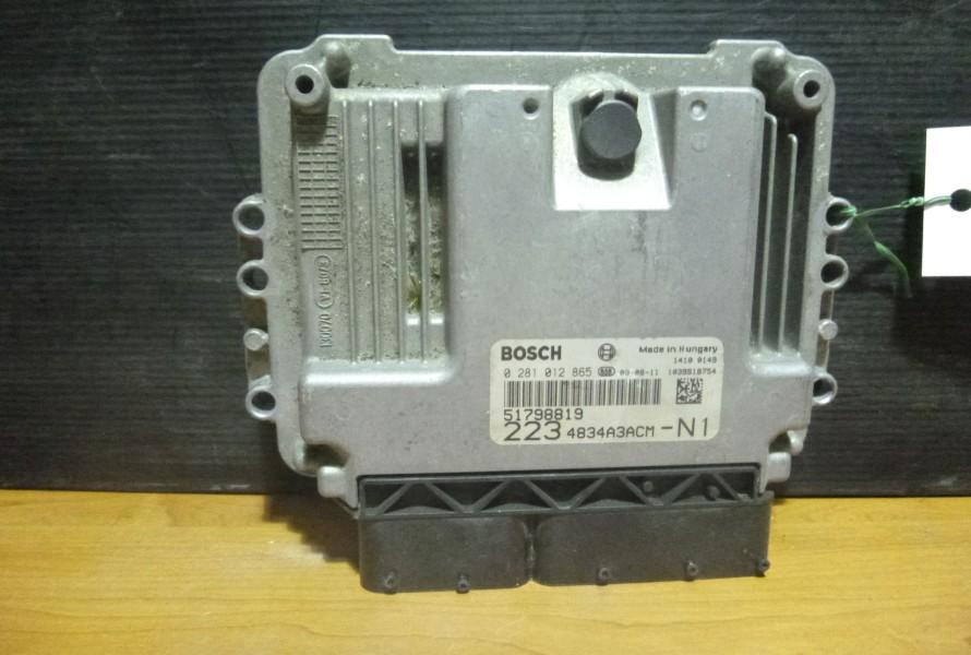 Fiat doblo 2,1.9Jtd Riadiaca Jednotka Motora 51798819