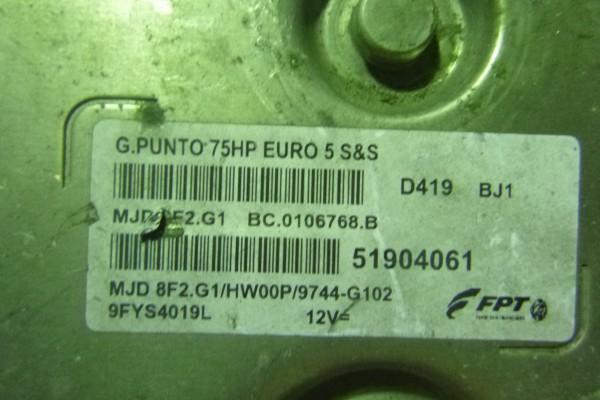 Fiat Grande Punto 1.3Jtd Riadiaca Jednotka Motora 51904061