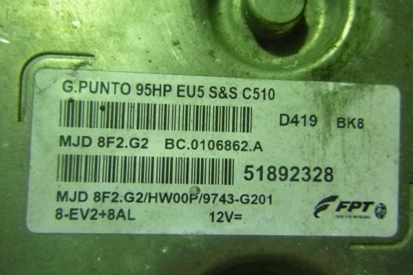 Fiat Grande Punto 1.3Mjet Riadiaca Jednotka Motora 51892328