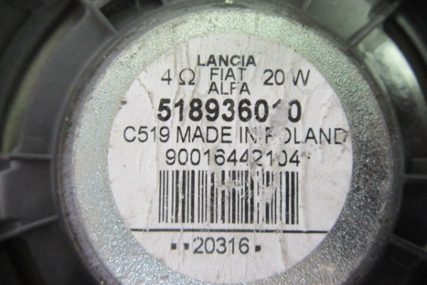 Alfa romeo giulietta predny pravy/lavy reproduktor 51893601